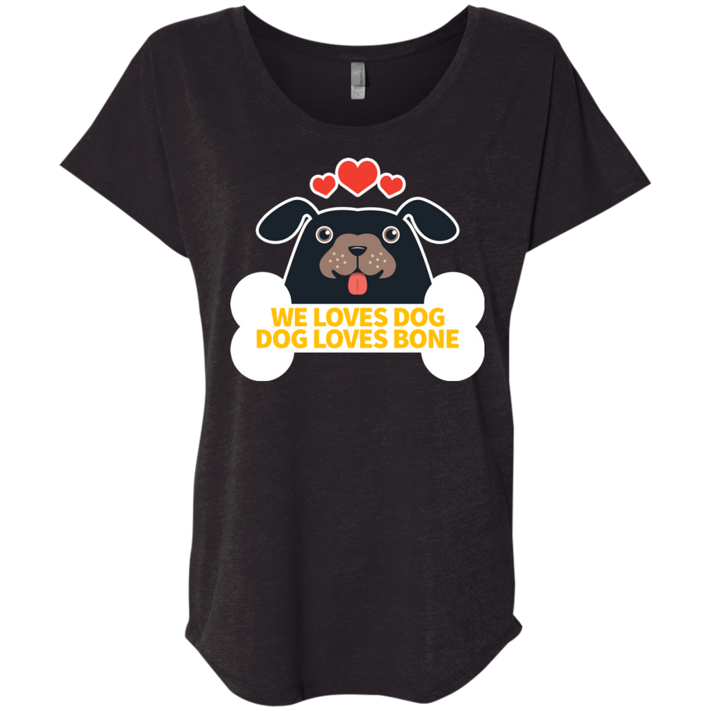 Dog Loves Bone - Black Tshirt, Hoodie