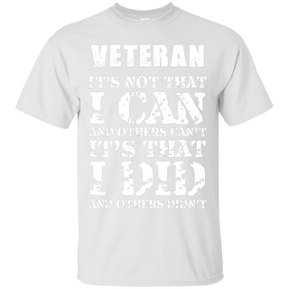 Veteran - I did and other didn't