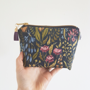 Navy Floral Square Essential Oil Case