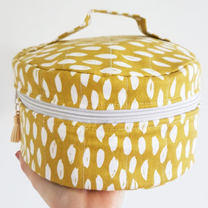 Yellow & White Essential Oil Travel Diffuser And Oil Case