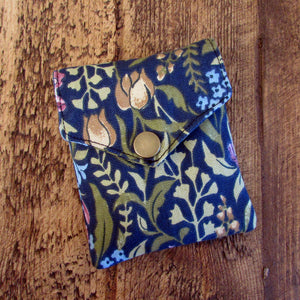 Navy Floral Essential Oil Roller Case