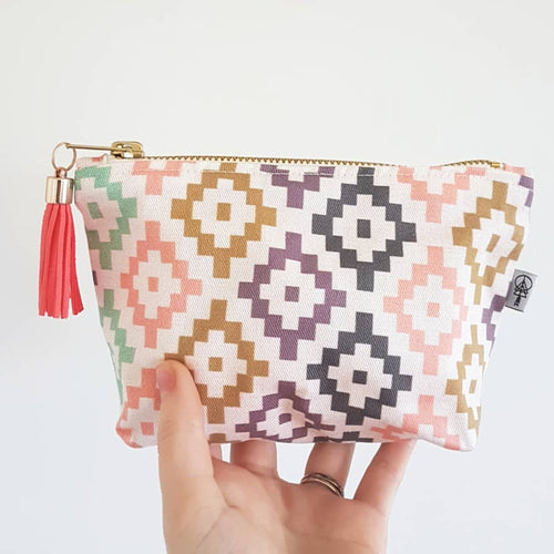 Tribal Geometric Premium Square Essential Oil Bag - By Laura Wright