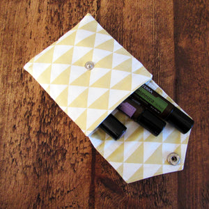 Yellow & White Geo Essential Oil Roller Case - LIMITED EDITION