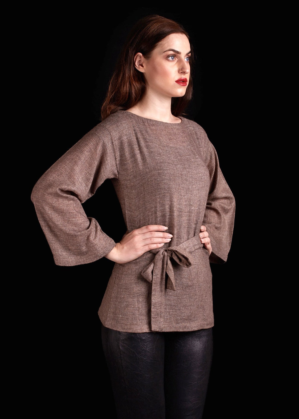 The Hirsh Sweater In Brown