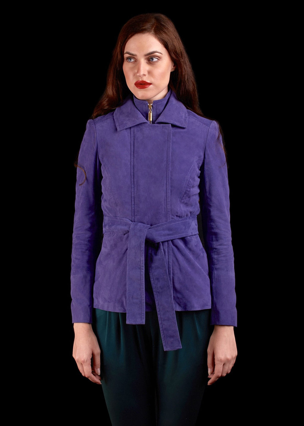 The Suede Origine Jacket In Blue