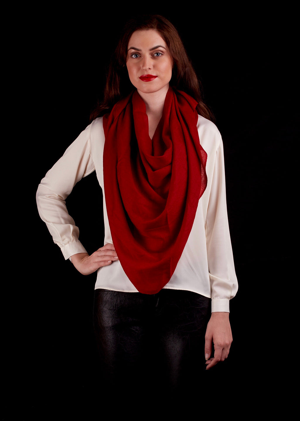 The Atlas Scarf, Red