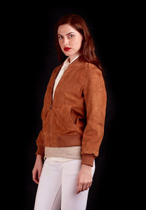 The Tuscan Suede Bomber In Tan