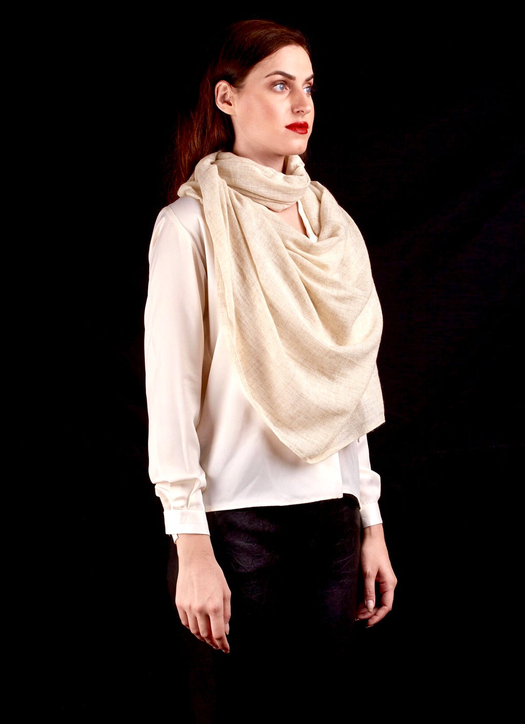 The Gauze Scarf, Cream