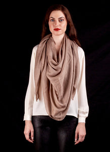The Atlas Scarf In Natural Beige