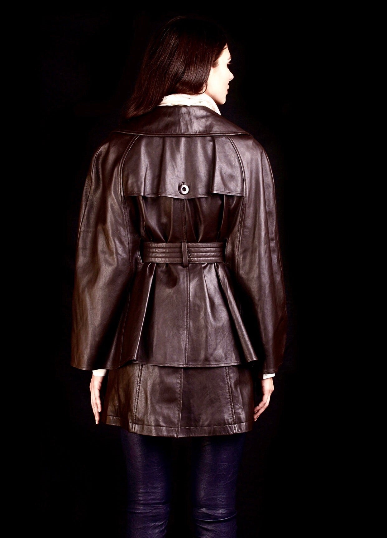 The Opera Cape Jacket in Leather