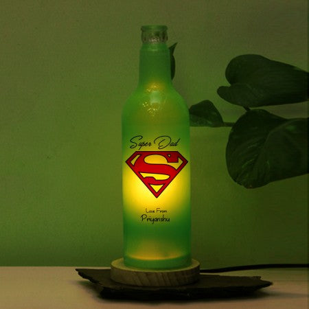 Super dad bottle lamp