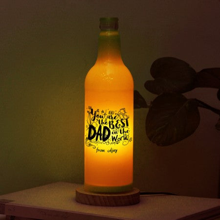 You are the best dad bottle lamp