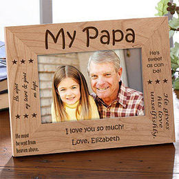 My papa wooden engraved photo frame