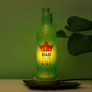 dad you are my king bottle lamp