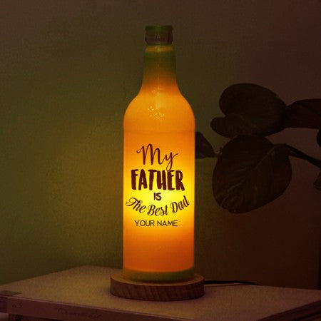 My father is the best dad bottle lamp