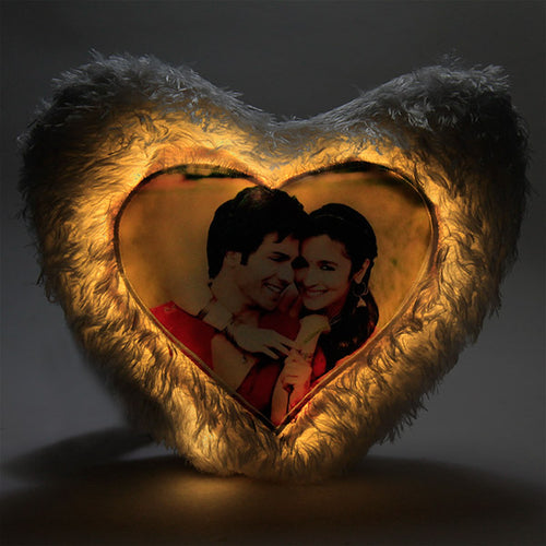 Heart shaped LED Photo Cushion