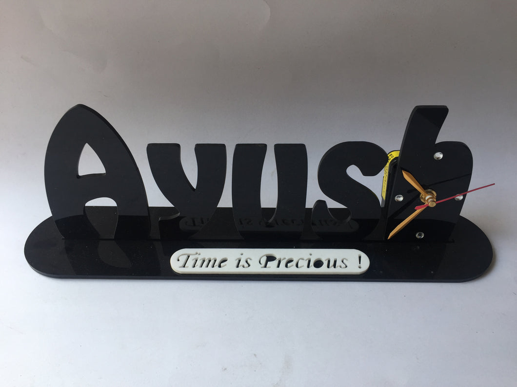 Name Clock for Table