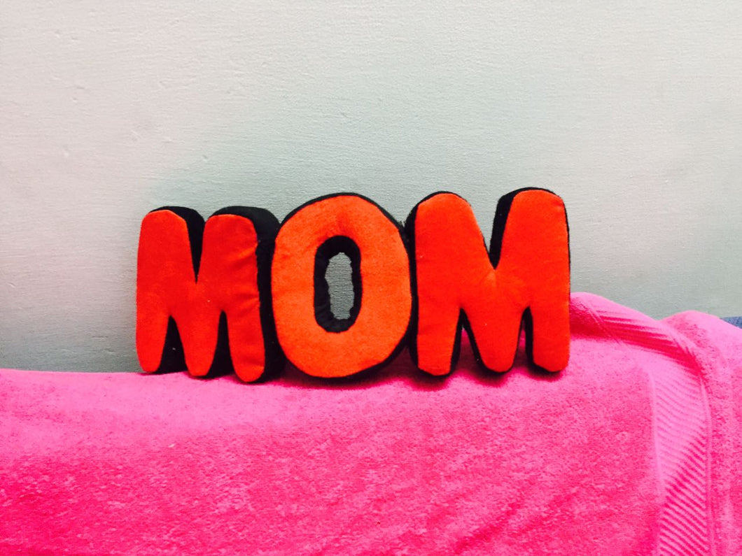 MOM alphabet  cushions