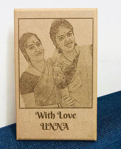 Wooden engraved plaque for mom