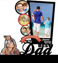 My Best dad Acrylic Cutout Table Top