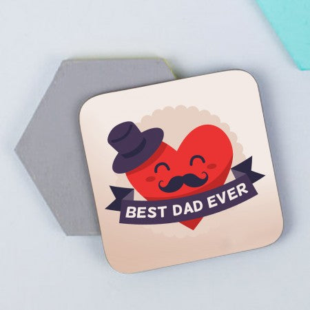 Best dad ever set of 6 coasters