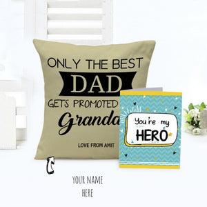 For my hero dad, cushion and card combo