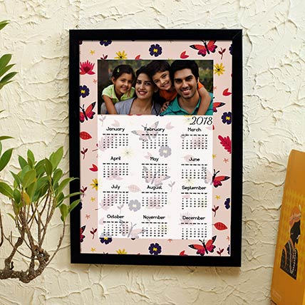 Framed Family Calendar 2018