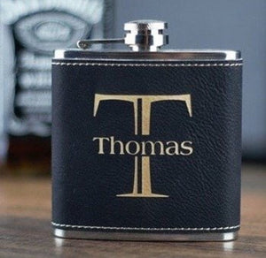 Personalised whisky flask