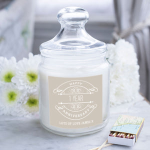 Glass Jar personalised Candle