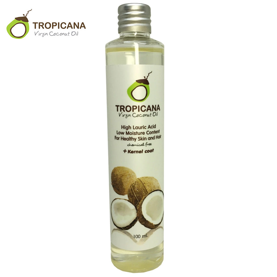 Tropicana 100% Natural Organic Extra Virgin Coconut Oil Thailand Best Cold Press Coconut Oil Skin Hair Care Essential Oil