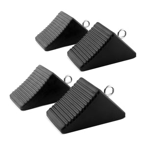 Set of 4 textured nylon wheel chocks