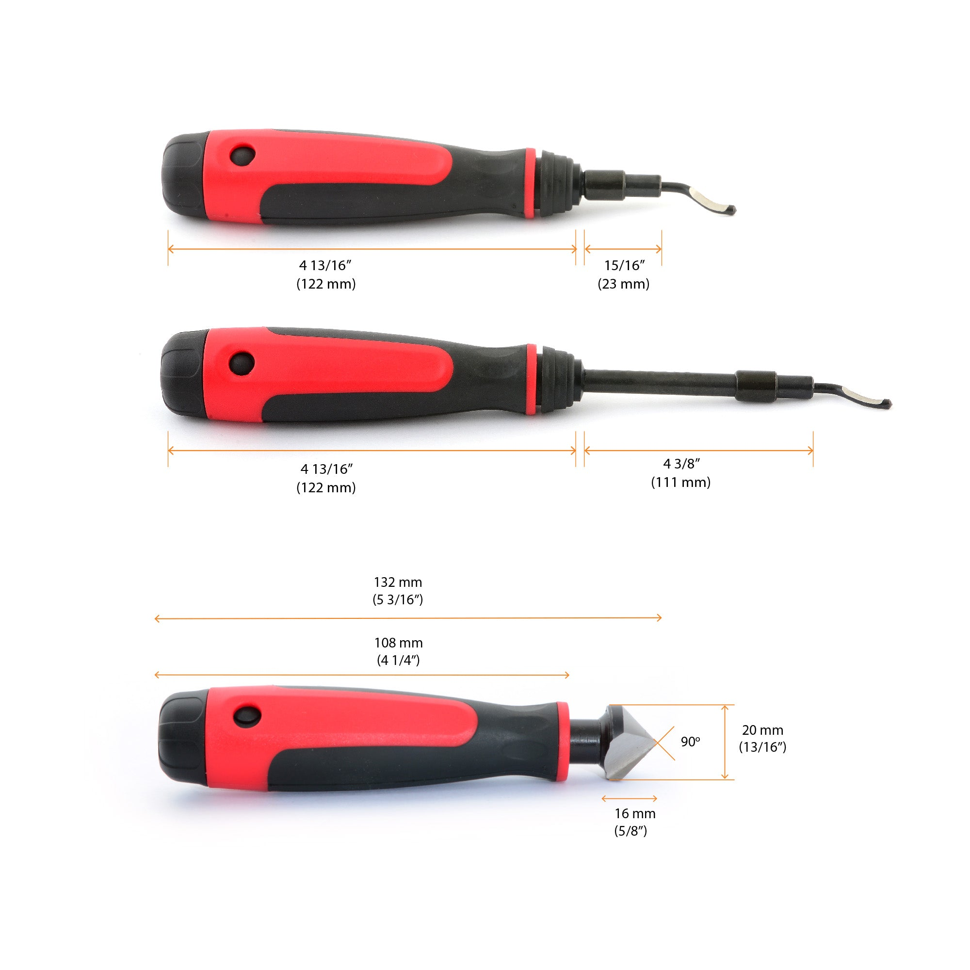 AFA Tooling Long Reach Deburring Tool with 15 High-Speed Steel Blades