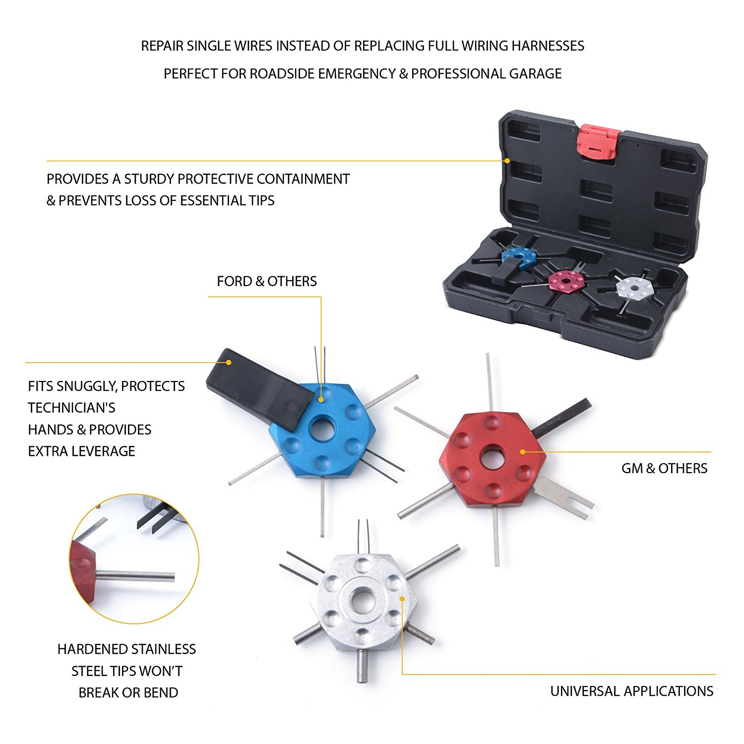 Automotive Wire Terminal Removal Repair Tool Kit Approved For Gm Wiring Harness Terminals