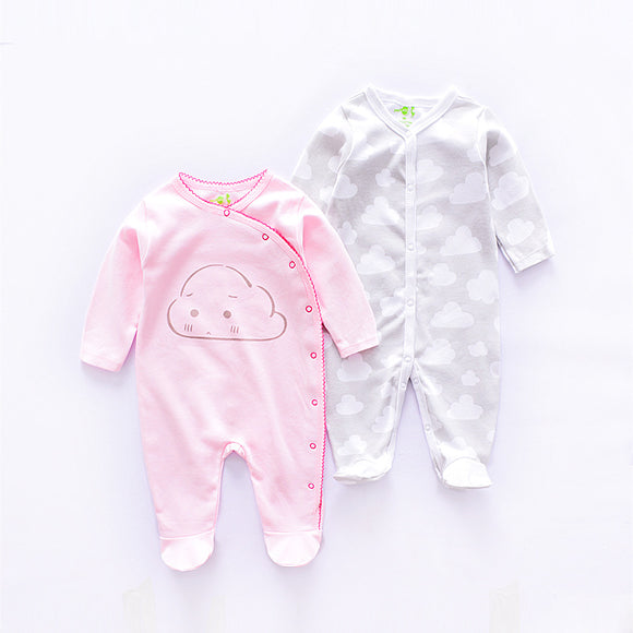 Baby clouds romper set (2 per set) 100% Cotton
