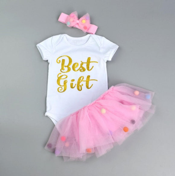 Best Gift baby tutu dress with matching headband