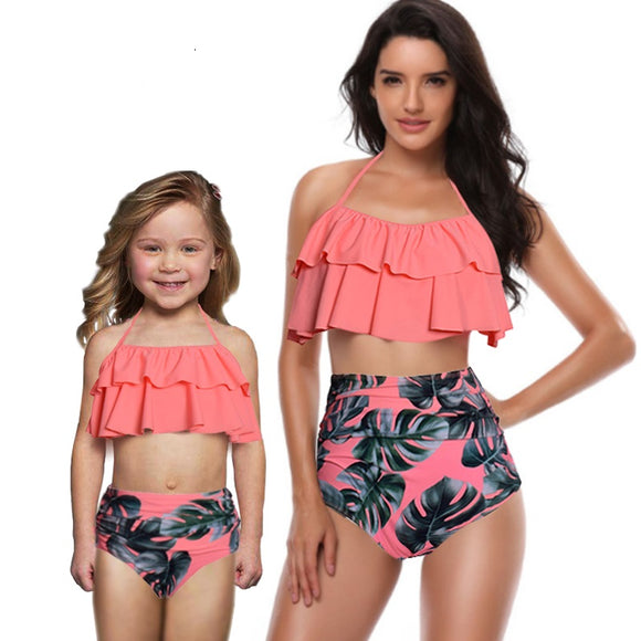 Matching coral/peach bikini sets: BUY SEPARATELY