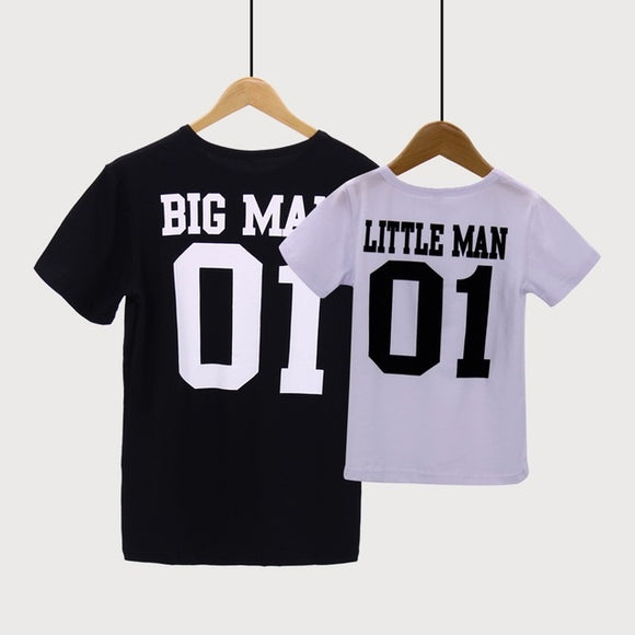 Big man little man matching tees 100% cotton (Sale: Get both for 299)