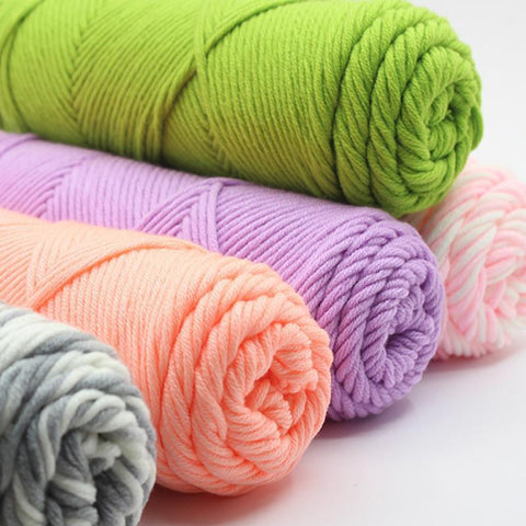 Soft Bamboo Warm Milk Cotton Knitting - Crochet