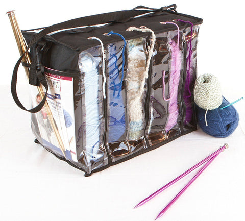 6 Skein Yarn Tote Bag Storage Organizer