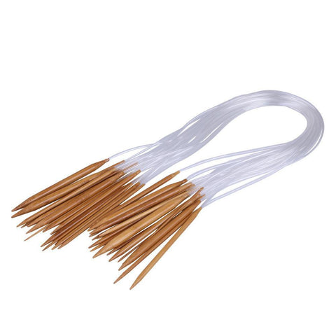 Circular Bamboo Knitting Needles 18 sizes 18Pairs
