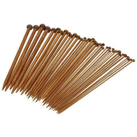 Bamboo Knitting Needles, Single Pointed (36pcs)