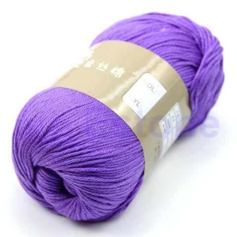 Multi-Color Soft Milk Fiber Cotton Silk Yarn