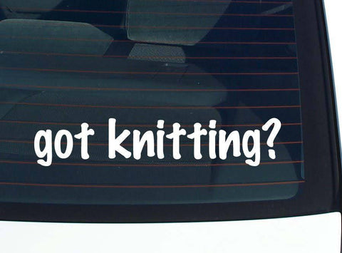 got knitting? DECAL-STICKER