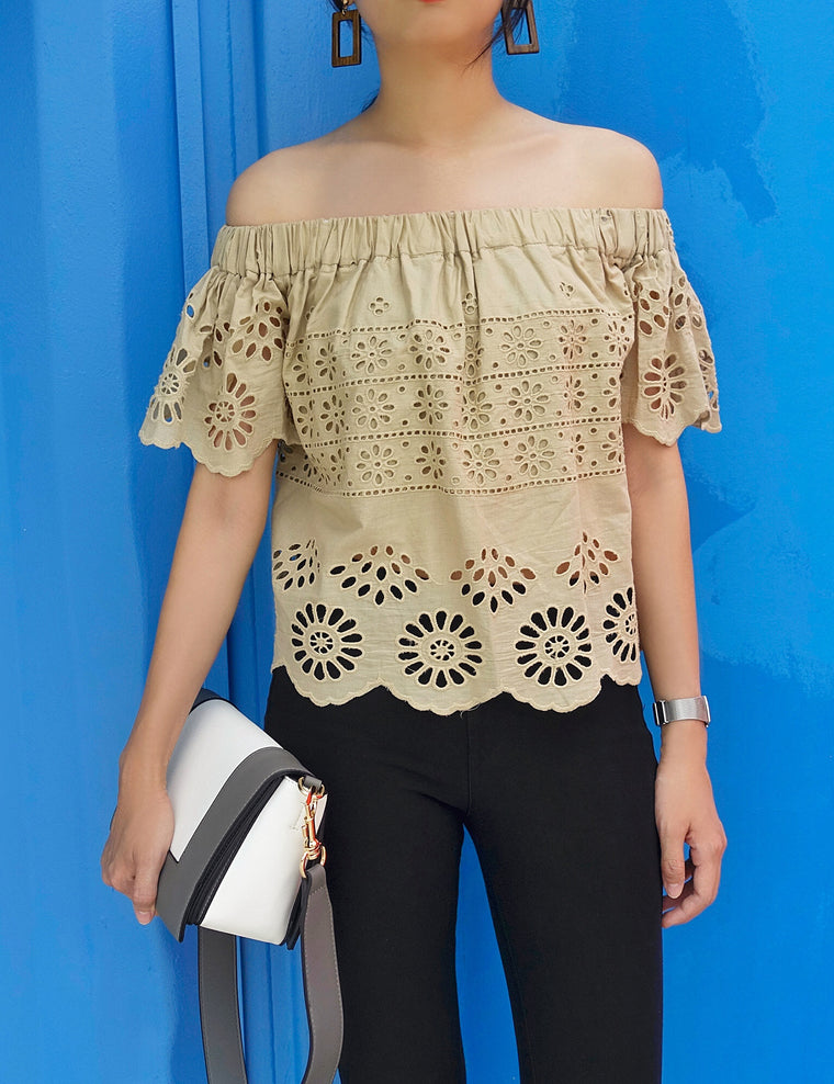 Muse Off-Shoulder Crochet Top