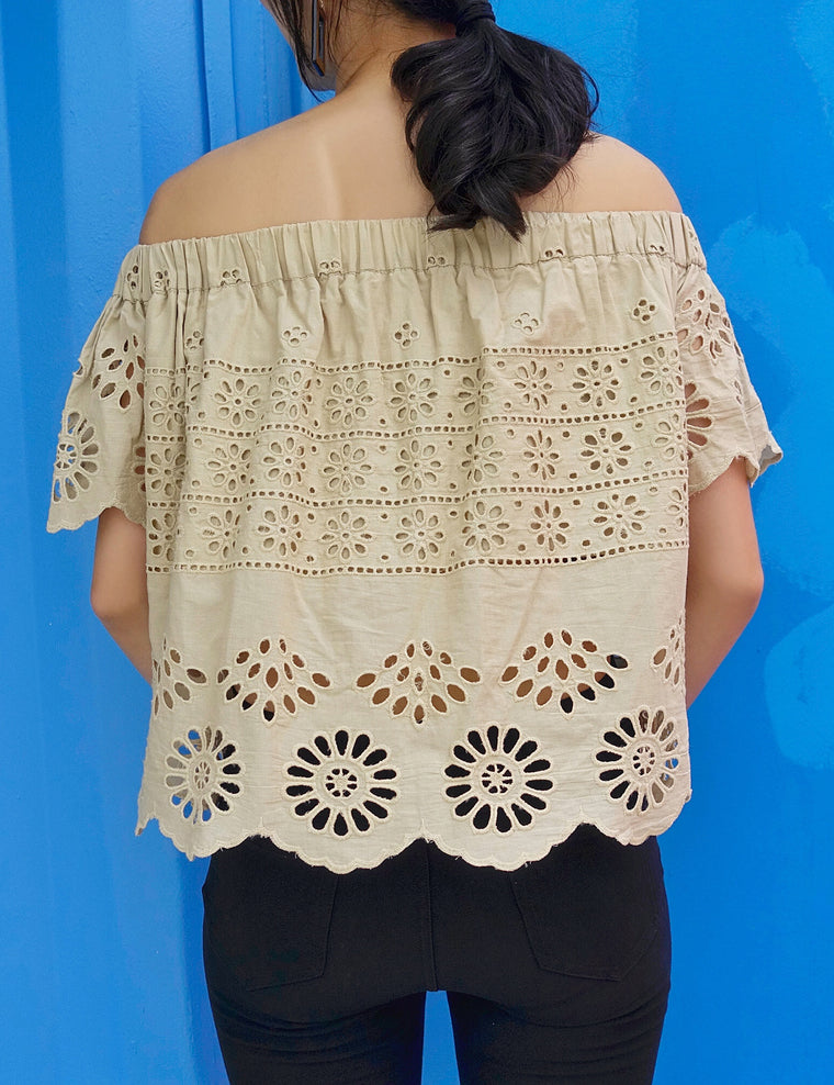 Muse Off-Shoulder Crochet Top - Muse Studios