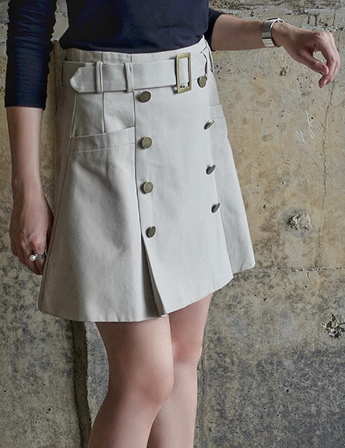 Muse Button Up Skirt