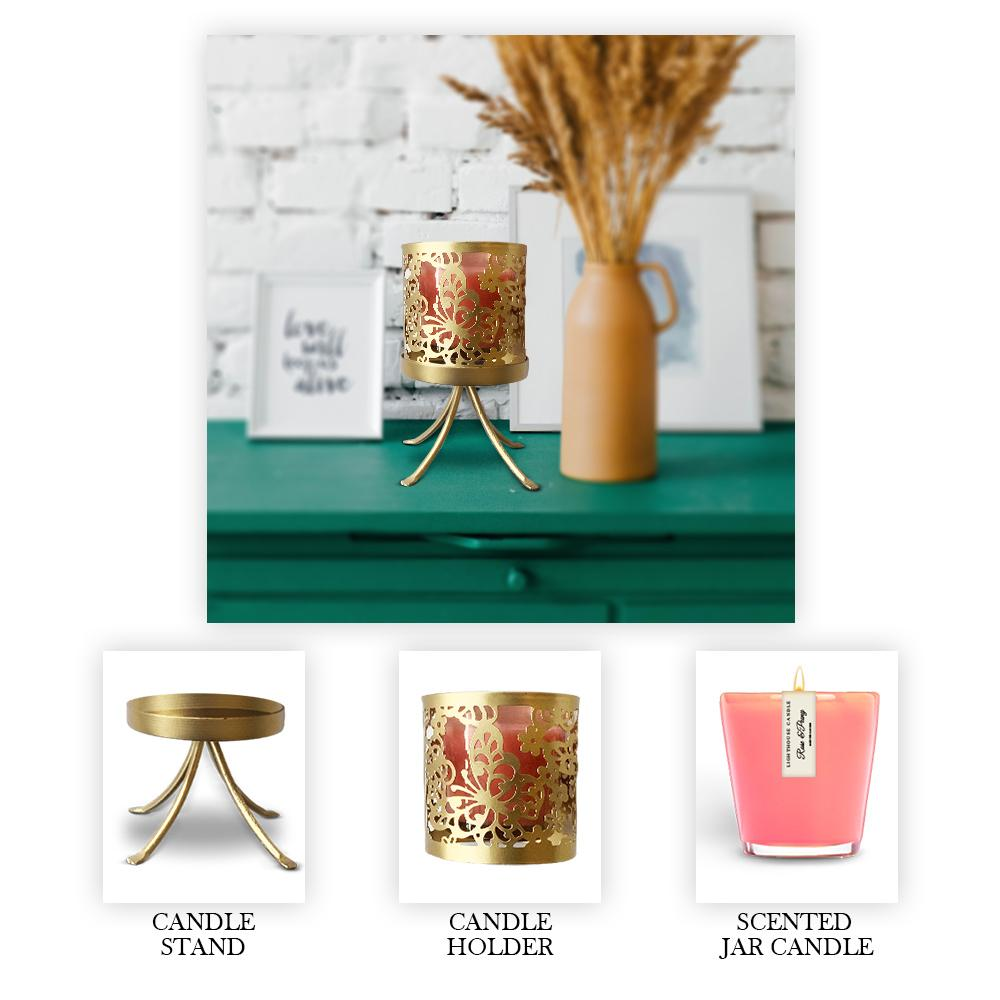 Scented Candle Online India Lighthouse Candle Rose Jar Candle with Butterfly Candle Holder and Stand Candle for Decoration