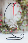 USA Handcrafted Scroll Christmas Tree Holiday Keepsake Ornament Pewter