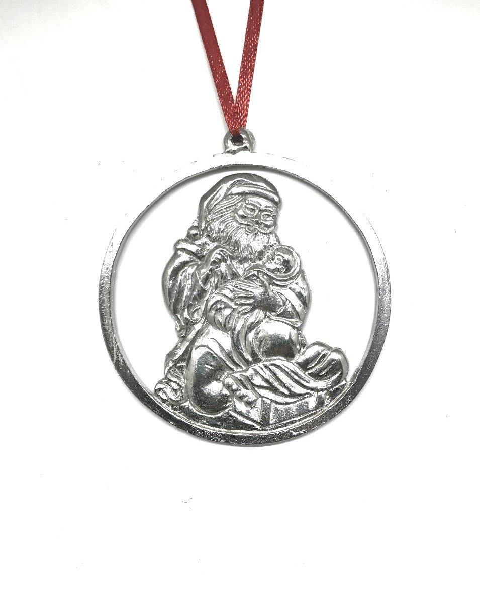 1083 Santa Baby Jesus Christmas Holiday Ornament Pewter - House of Morgan Pewter