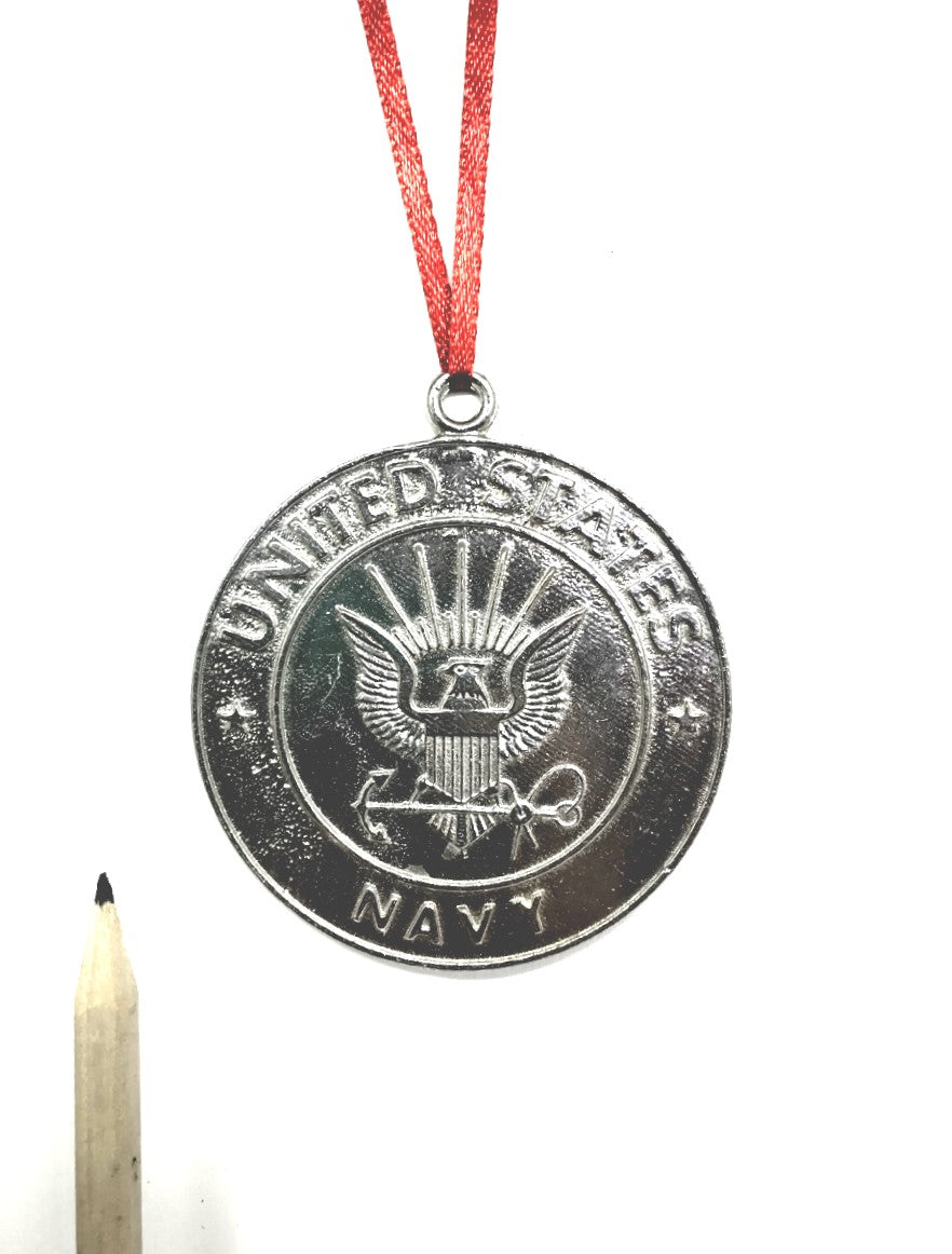 1085 Navy Military Keepsake Christmas Holiday Ornament Pewter - House of Morgan Pewter